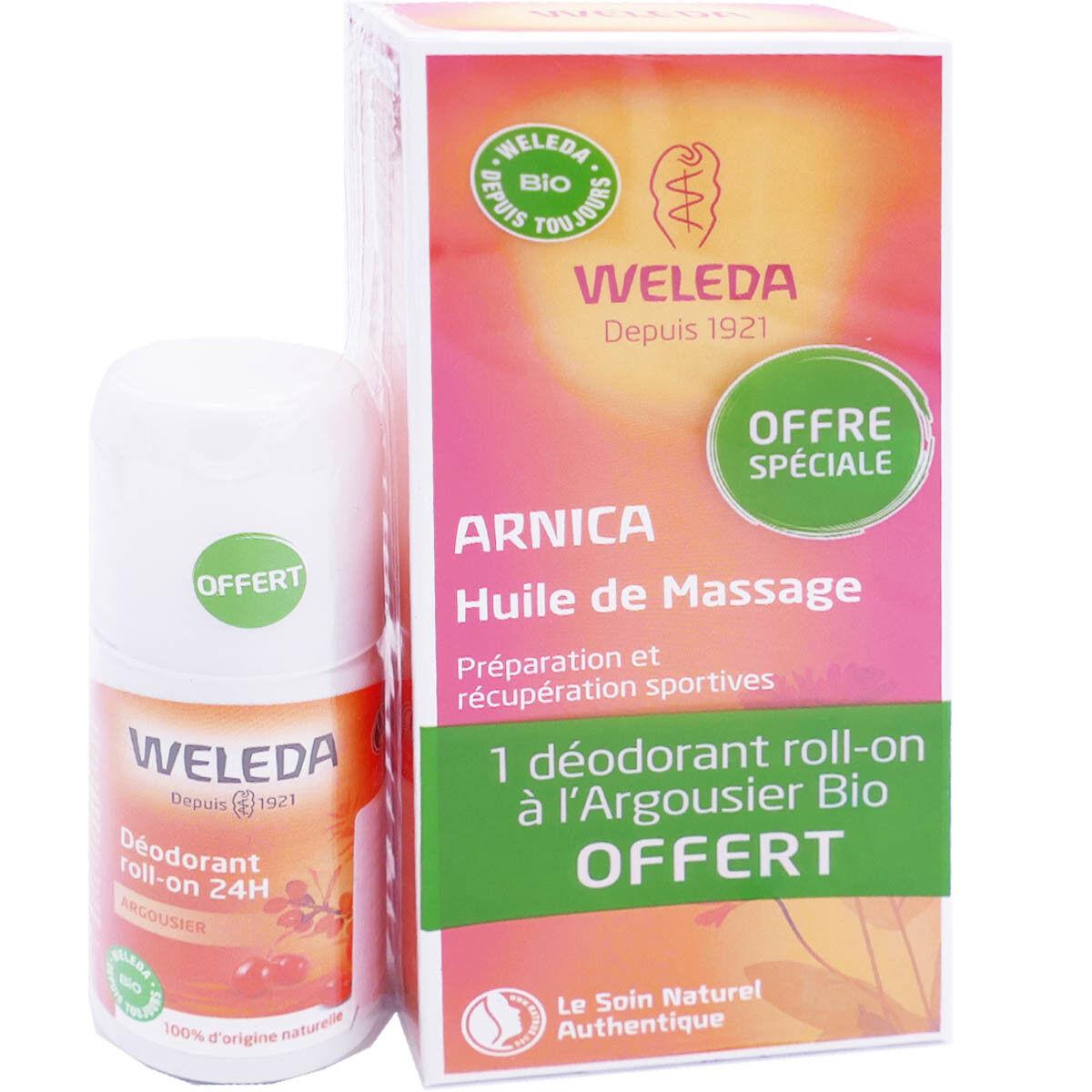 Weleda arnica huile de massage 200ml + dÉodorant 50ml