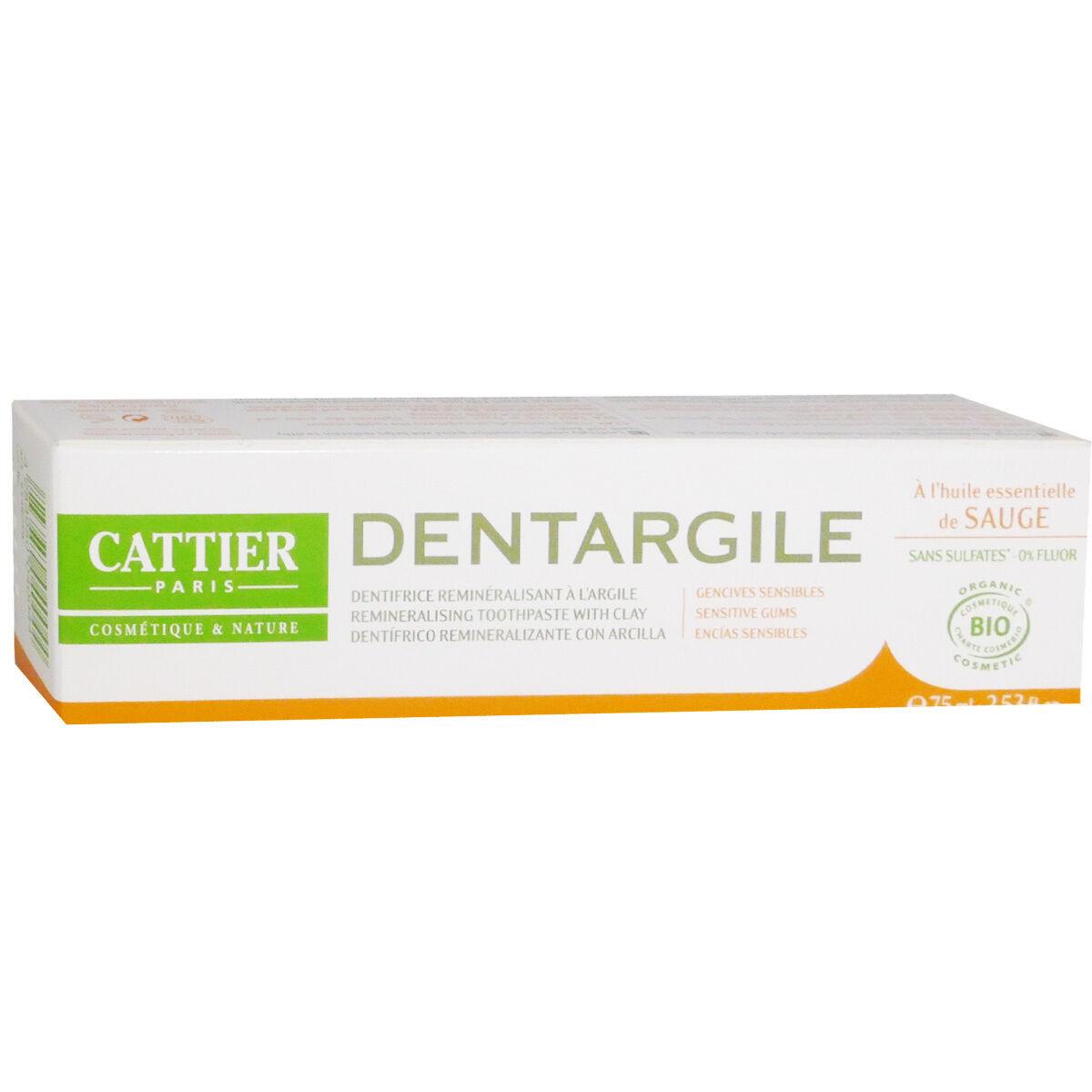 Cattier dentargile remineralisant argile 75 ml