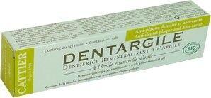 Cattier bio dentifrice dentargile anti plaque et tartre 75ml