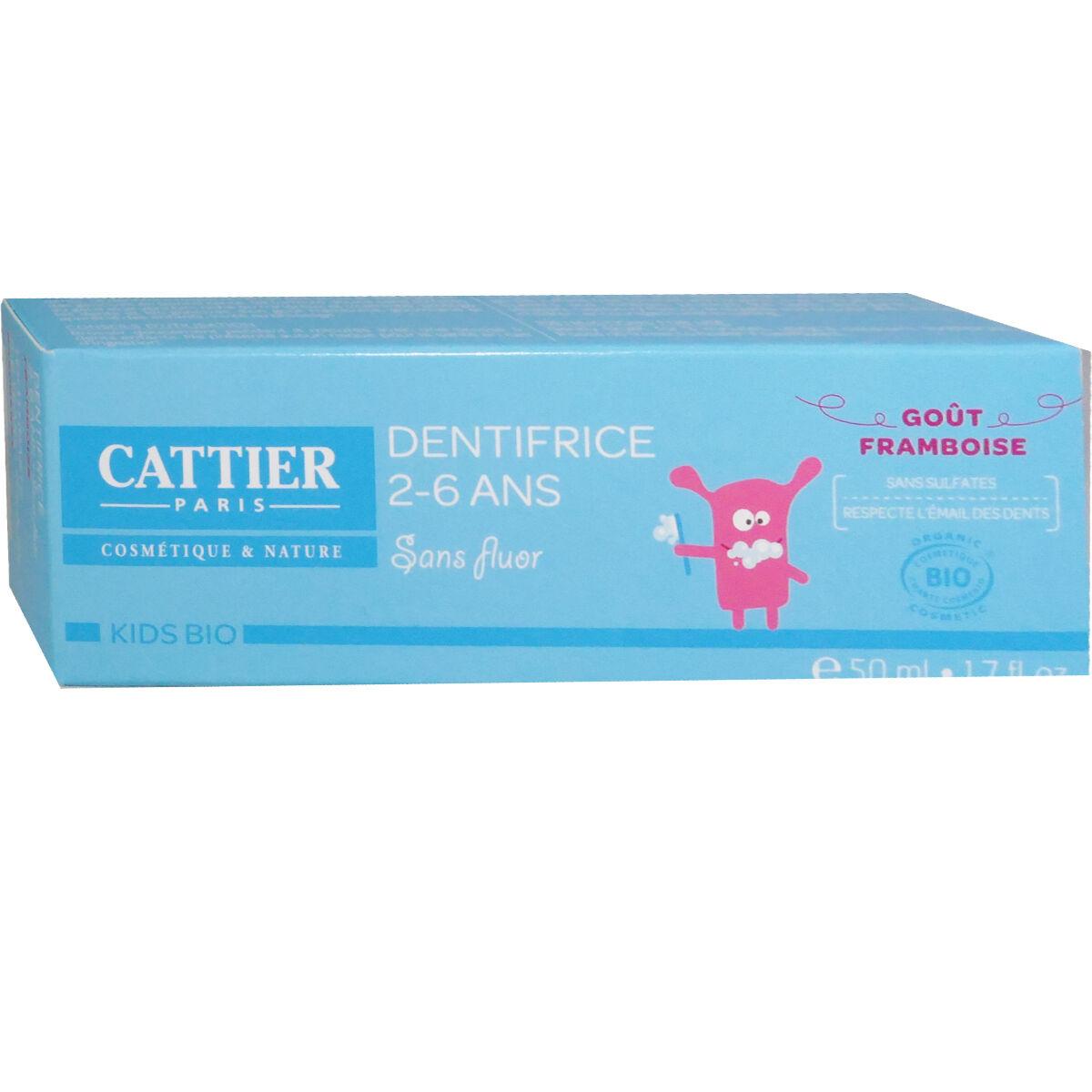 Cattier dentifrice 2-6 ans gout framboise 50 ml