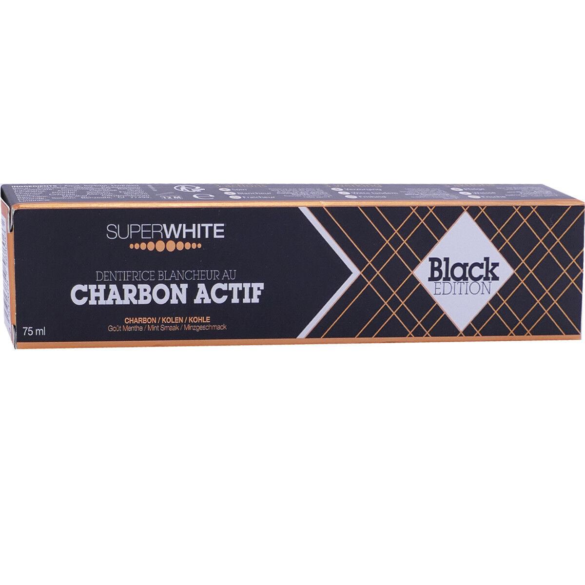 Superwhite charbon actif 75 ml black edition