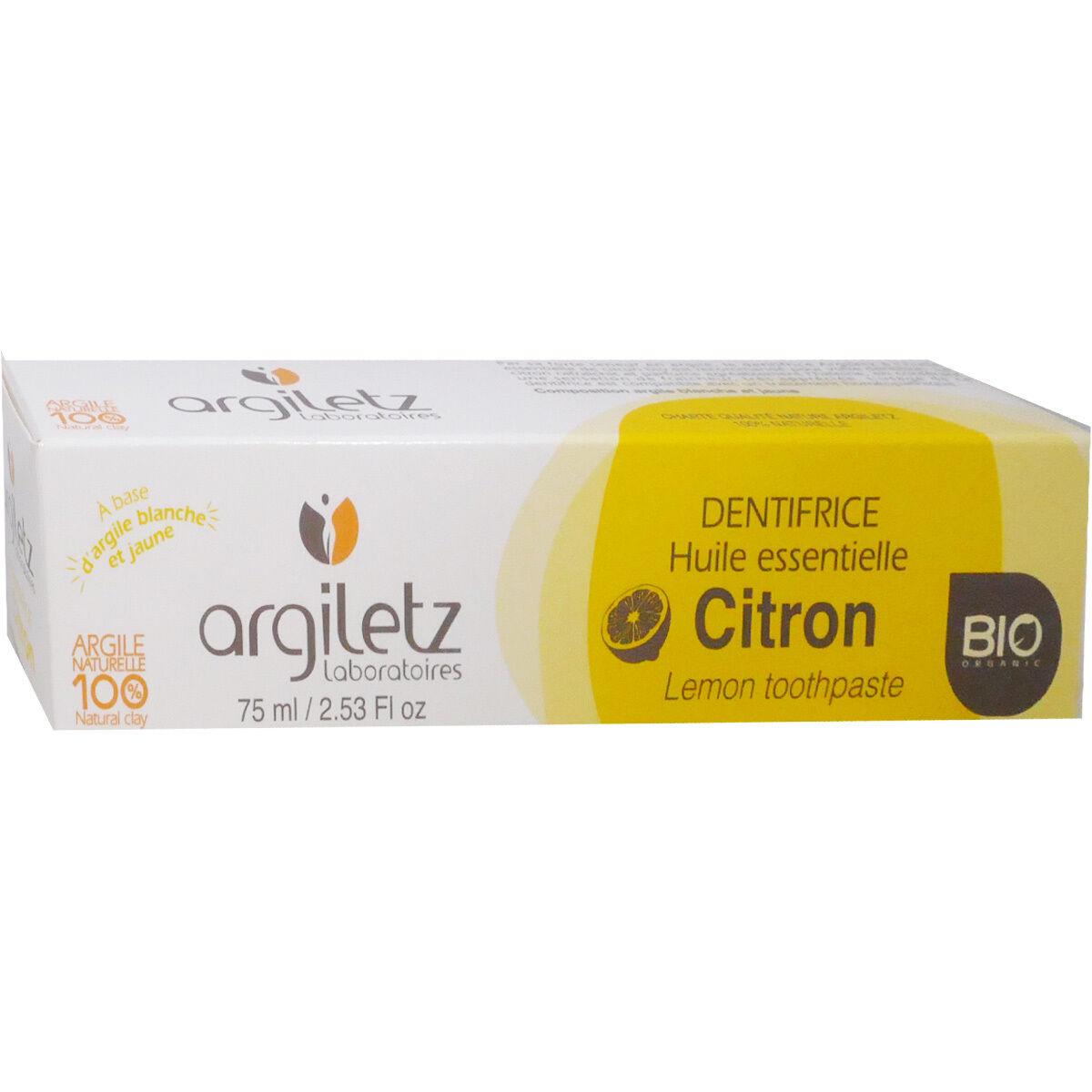 Argiletz dentifrice bio citron 75 ml