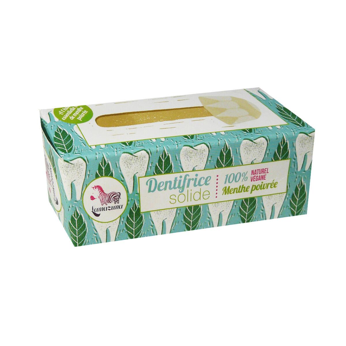 Lamazuna dentifrice solide 100% vegane menthe poivree 17 g