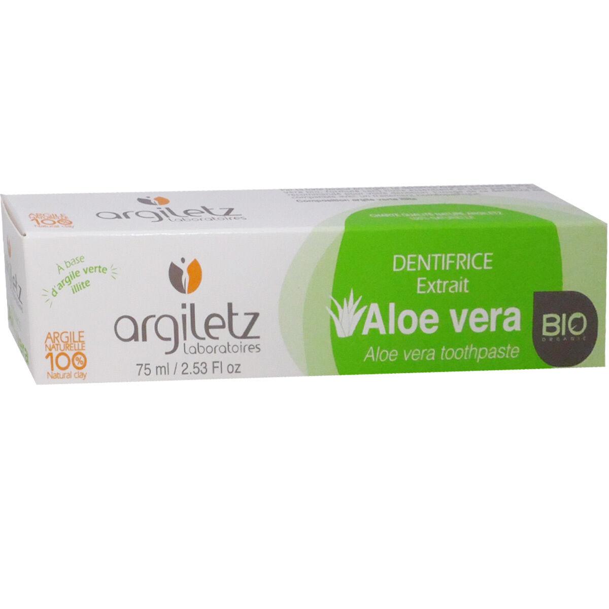 Argiletz aloe vera bio dentifrice 75 ml