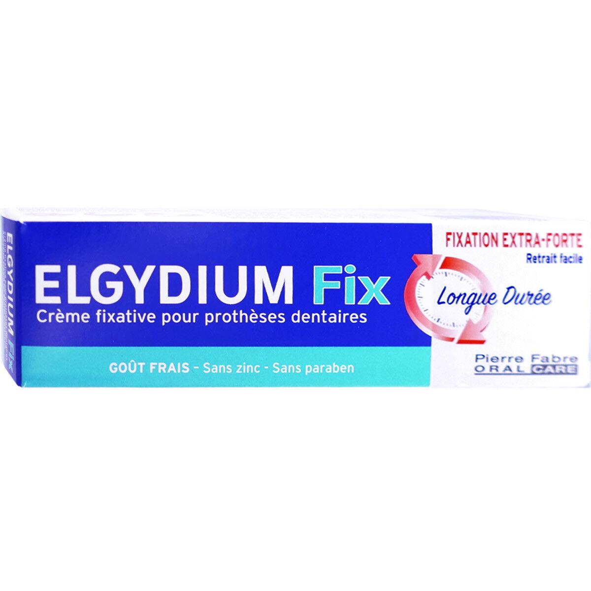 Elgydium fix creme fixatrice extra forte gout frais 45g