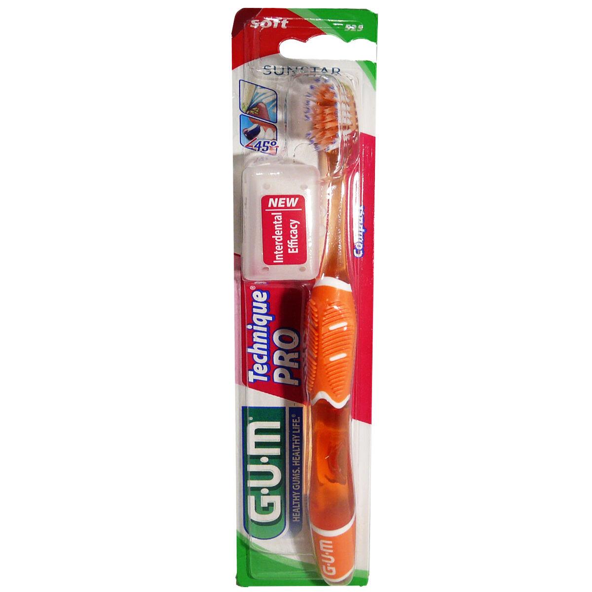 Gum technique  pro brosse a dents souple compact