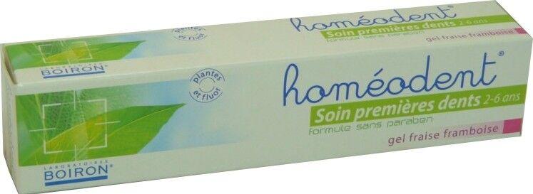 BOIRON Homeodent premieres dents 2 a 6 ans gel fraise framboise 50ml