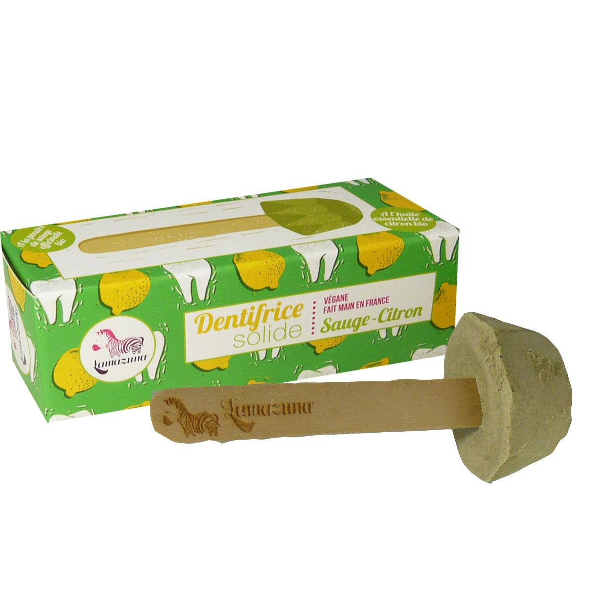 Lamazuna dentifrice solide sauge citron 17 g