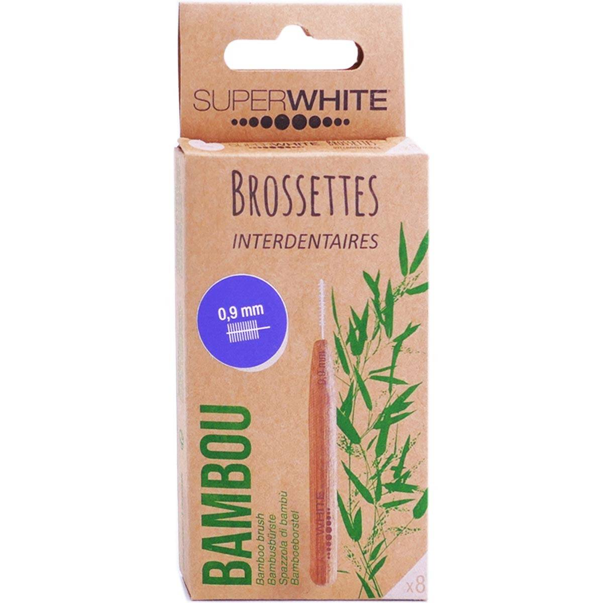 Superwhite brossettes interdentaires bambou 0.9mm