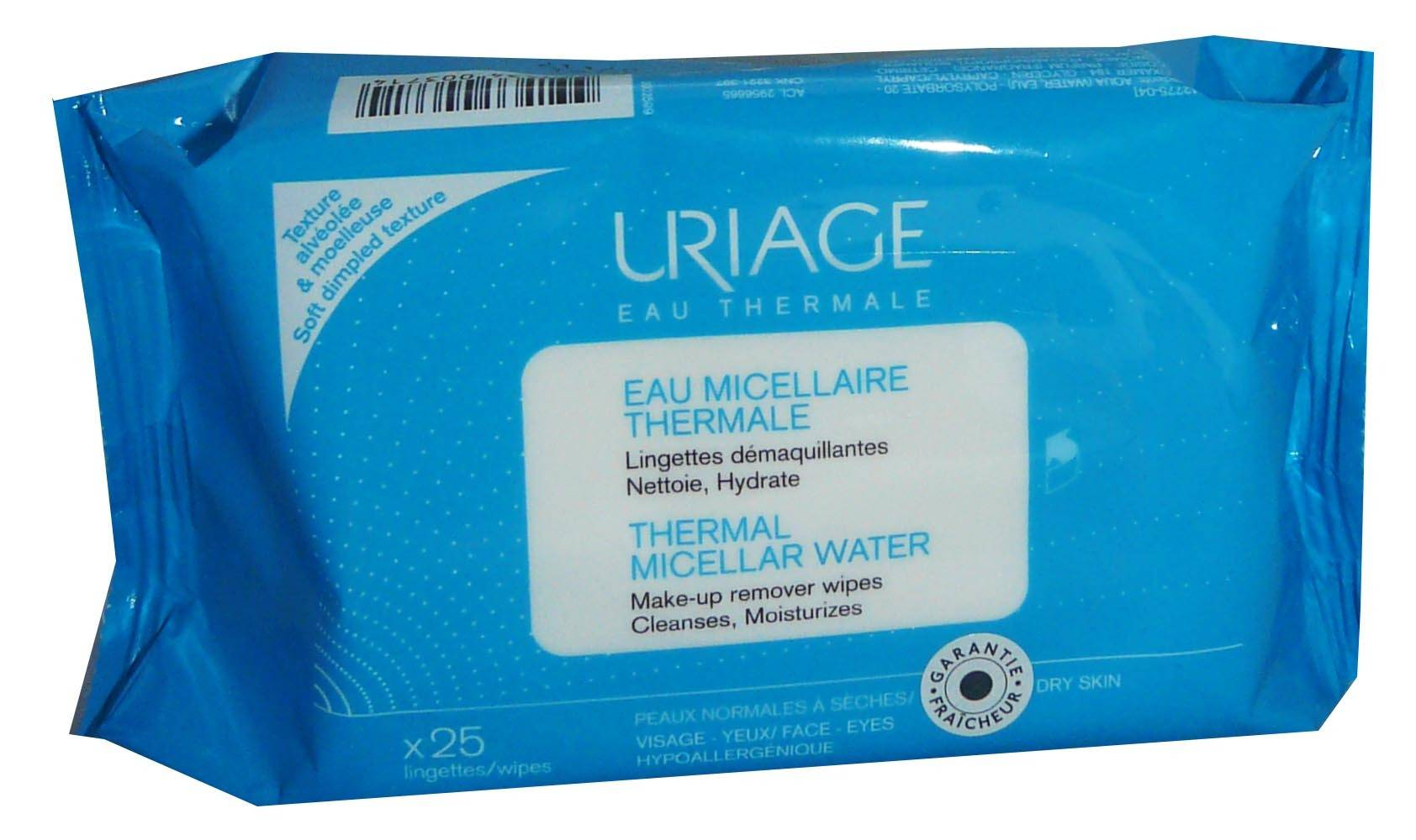 Uriage 25 lingettes eau micellaire thermale dÉmaquillante