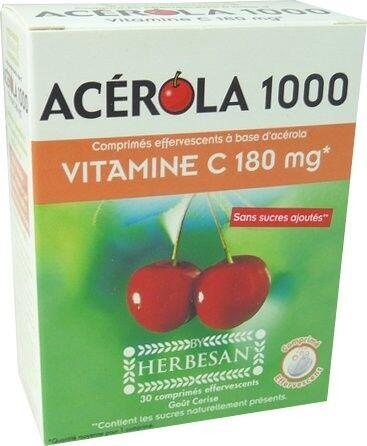 HERBESAN Acerola 1000 vitamine c 180mg effervescents herbesan