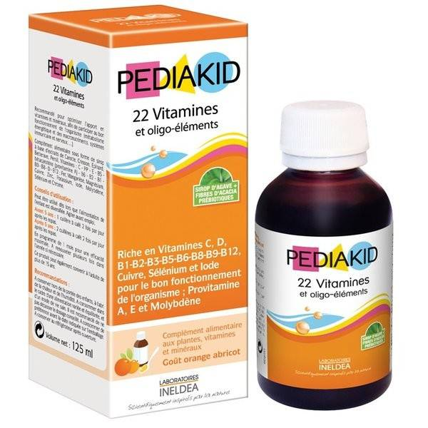 Pediakid sirop 22 vitamines 125ml