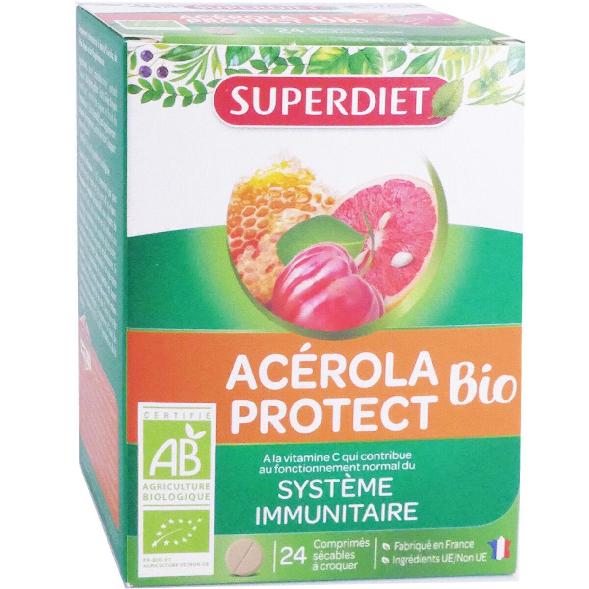 SUPER DIET Superdiet acerola protect bio systeme immunitaire 24 comprimes