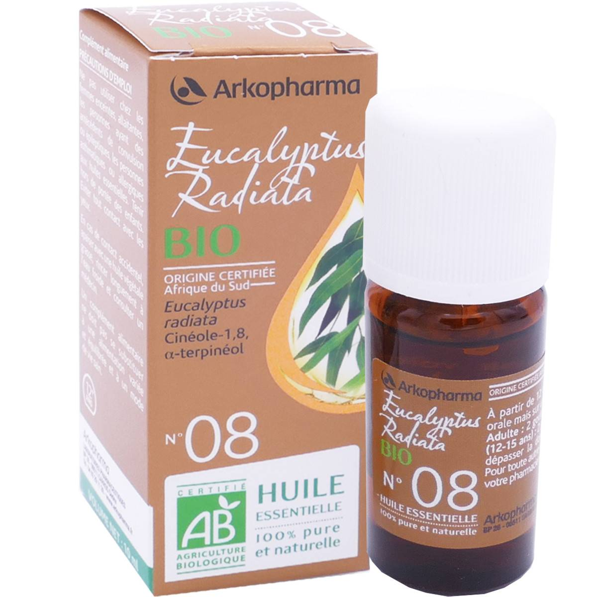 Arkopharma huile essentielle eucalyptus radiata bio n°08 10 ml