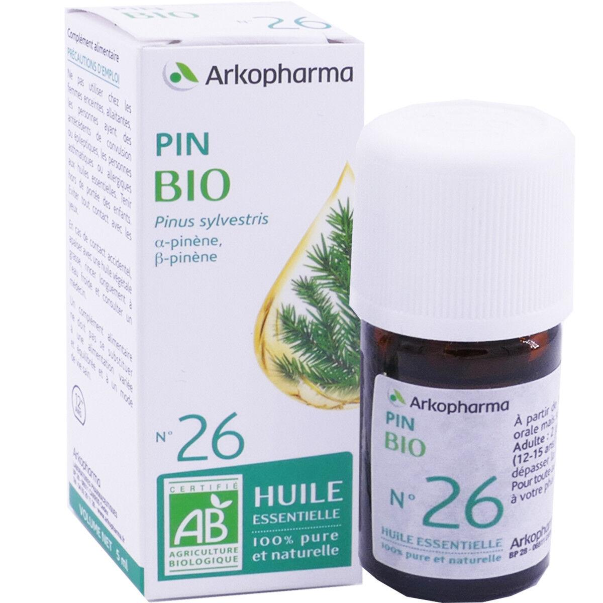 Arkopharma huile essentielle pin bio n°26 5 ml