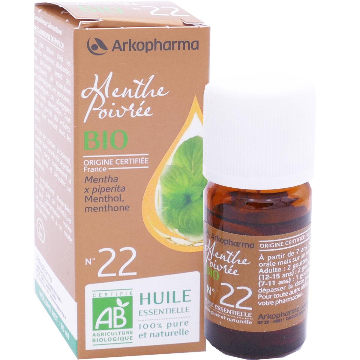 Arkopharma huile essentielle menthe poivree bio n°22 10 ml