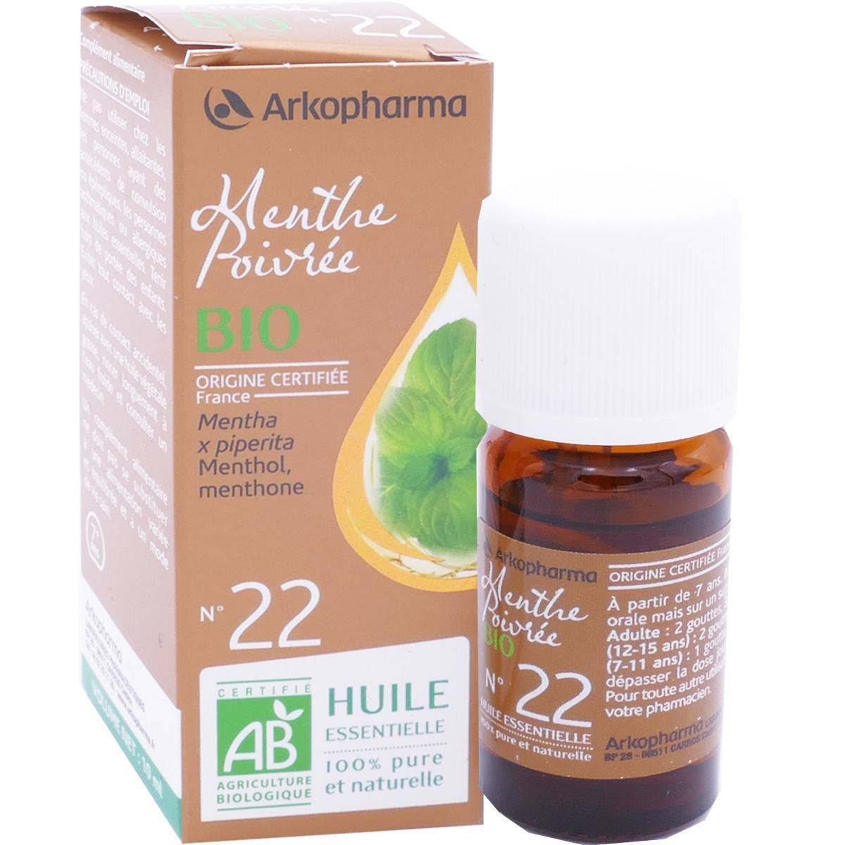 Arkopharma menthe poivree bio n°22 10 ml