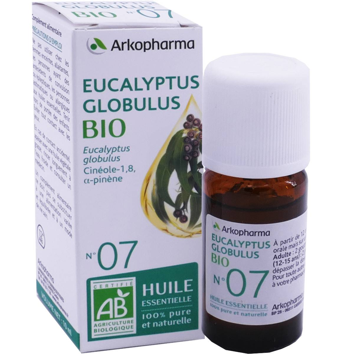Arkopharma huile essentielle eucalyptus globulus bio n°7 10 ml