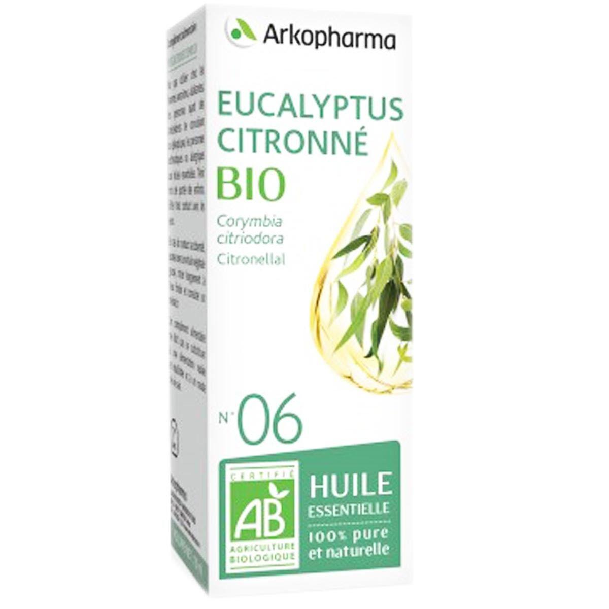 Arkopharma huile essentielle eucalyptus citronne bio n°06 10 ml