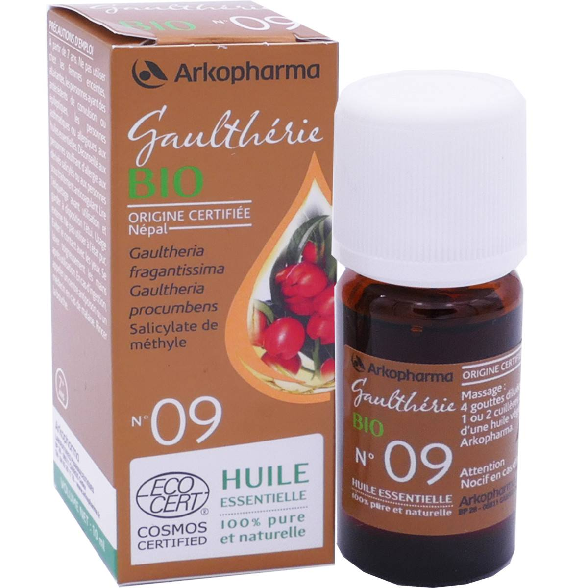 Arkopharma huile essentielle gaultherie bio n°09 10ml
