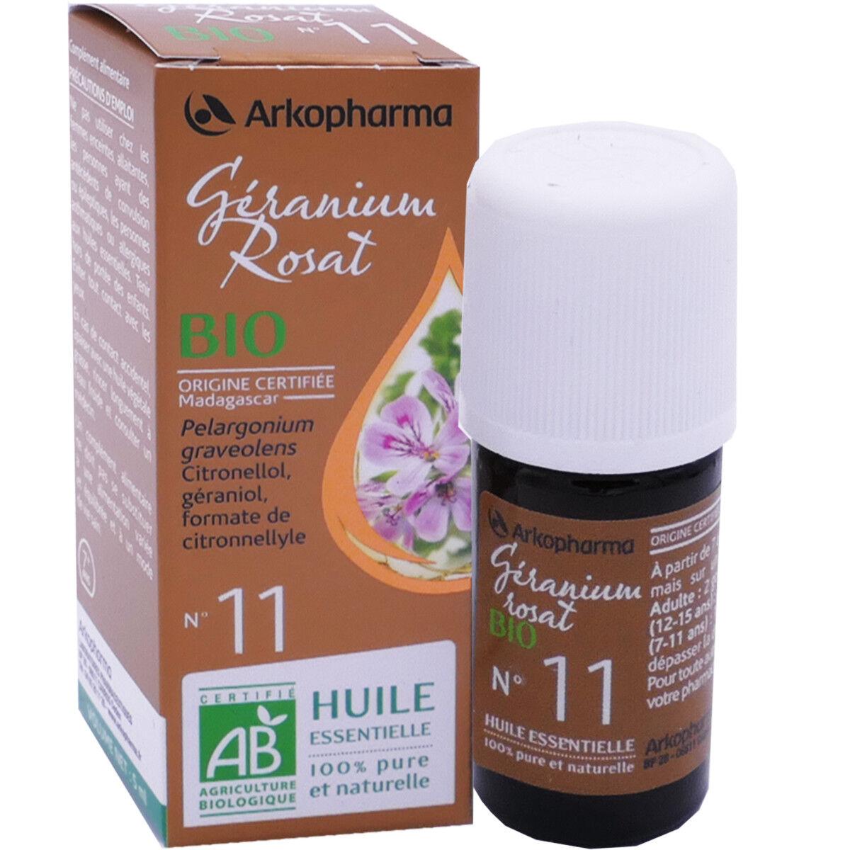 Arkopharma huile essentielle geranium rosat bio n°11 5 ml