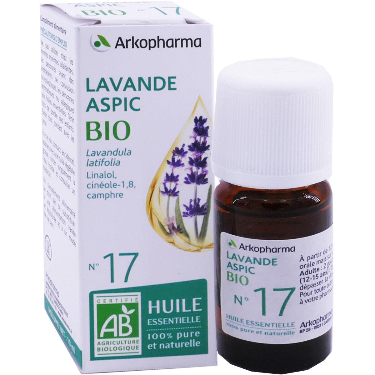 Arkopharma huile essentielle lavande aspic bio n°17 10 ml