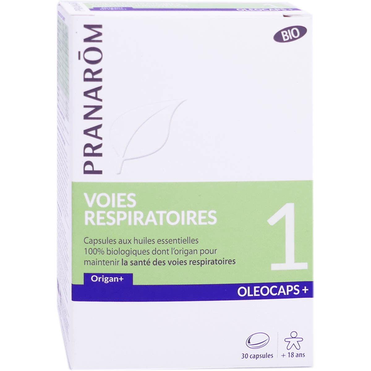 Pranarom voies respiratoires bio oleocaps+1 30 capsules