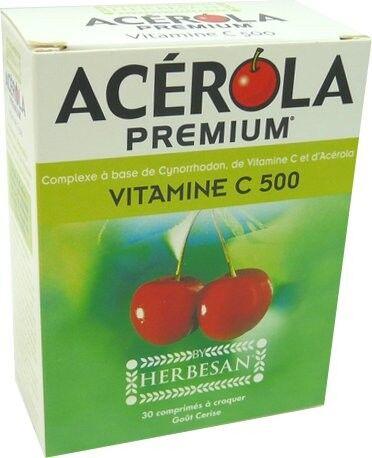 HERBESAN Acerola premium vitamine c 500 30 comprimes herbesan