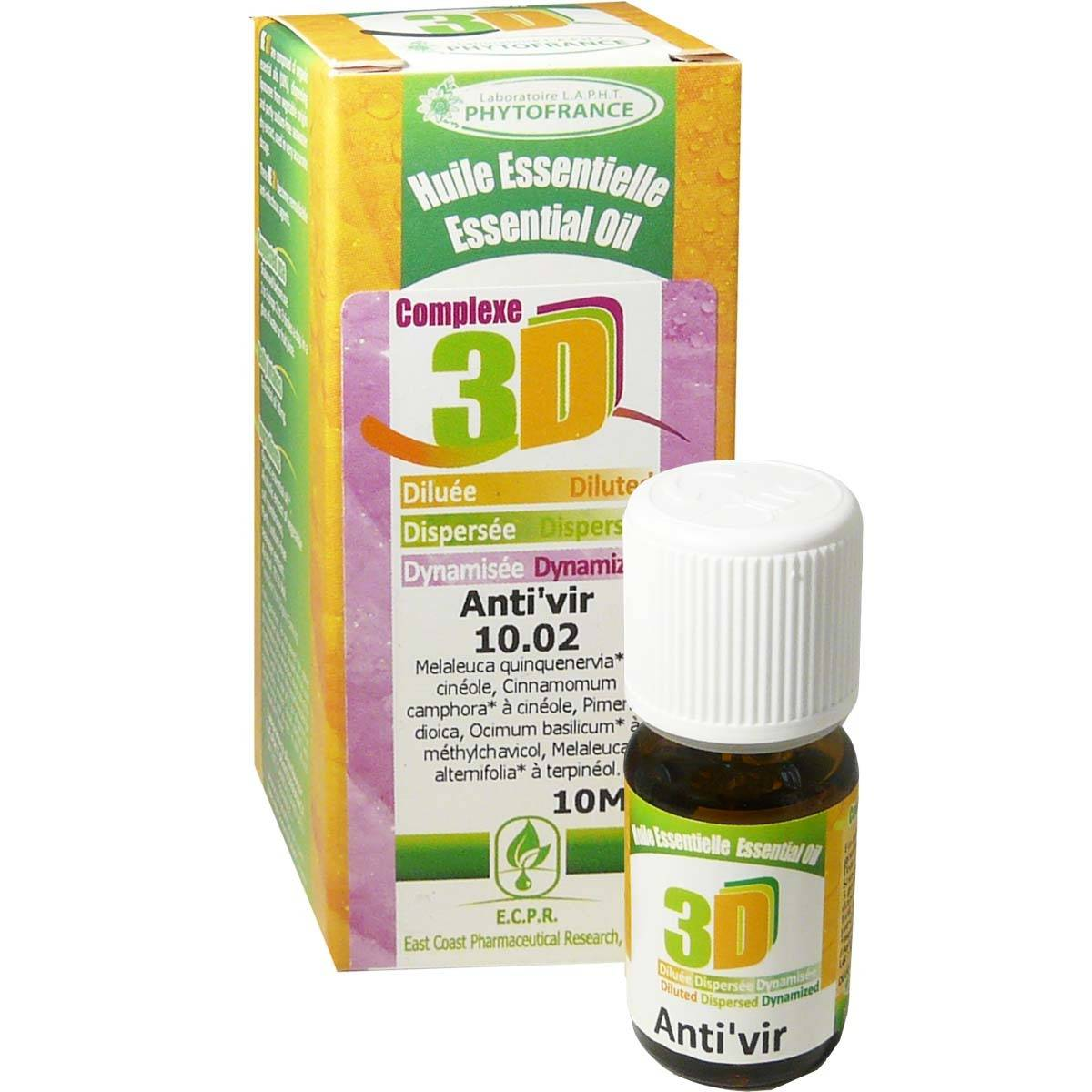 Phytofrance huile essentielle complexe 3d anti'vir 10ml