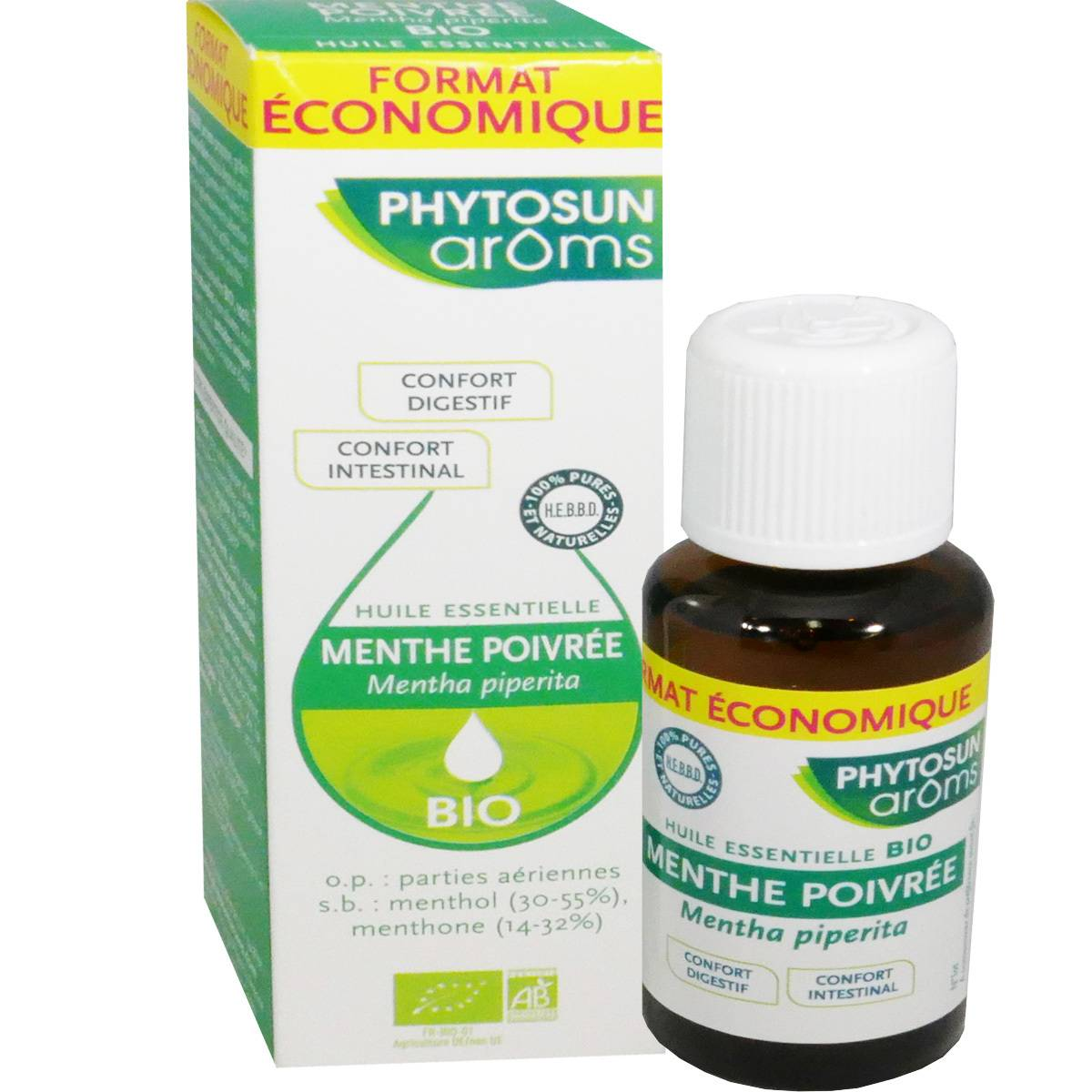 Phytosun aroms huile essentielle menthe poivree digestion 30 ml