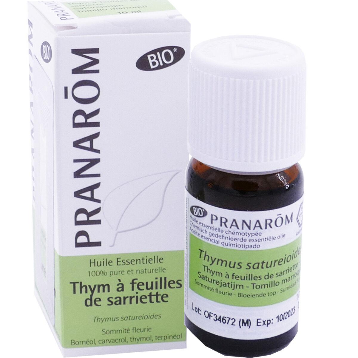 Pranarom huile essentielle thym a feuilles de sarriette bio 10ml