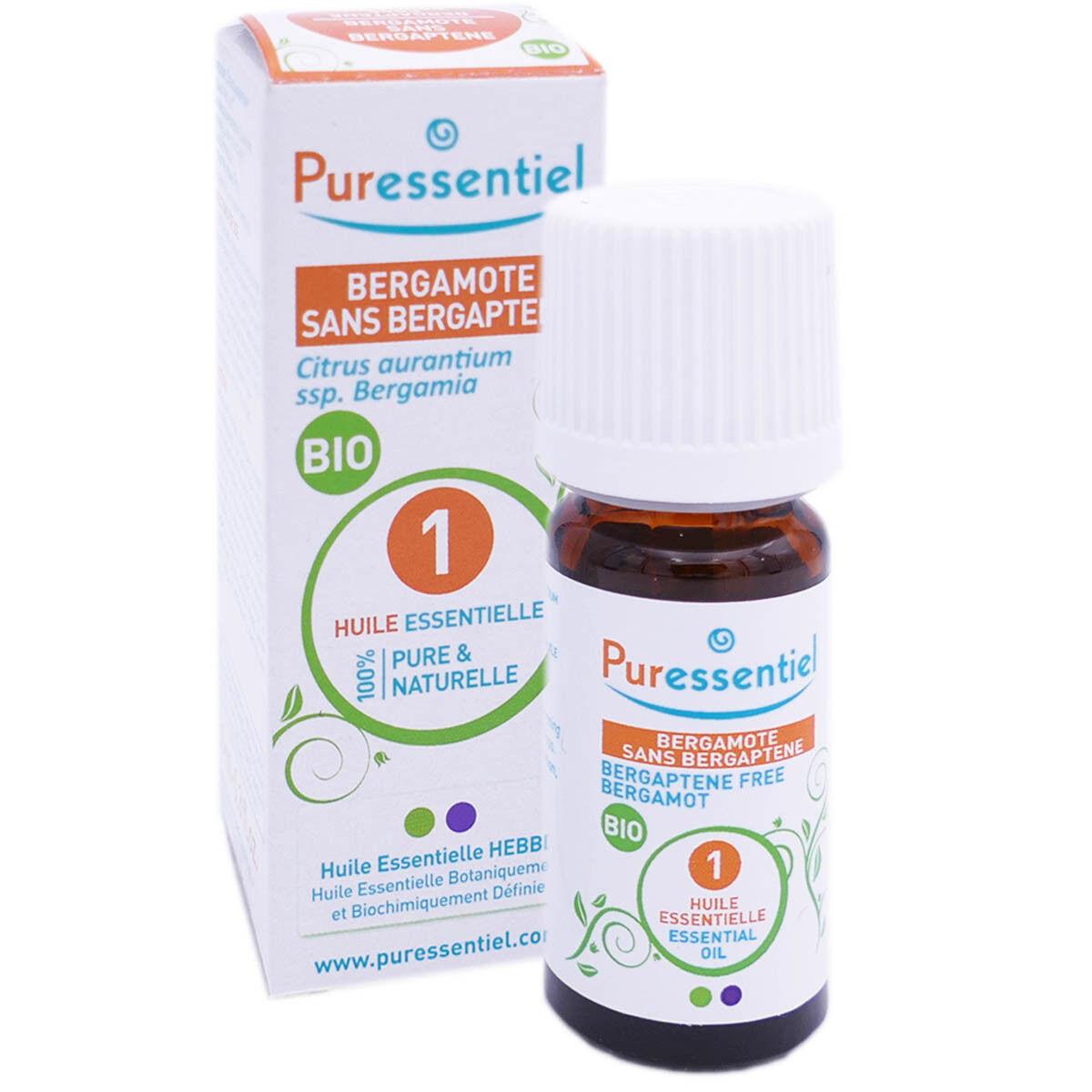 Puressentiel huile essentielle bergamote sans bergaptene bio 10ml