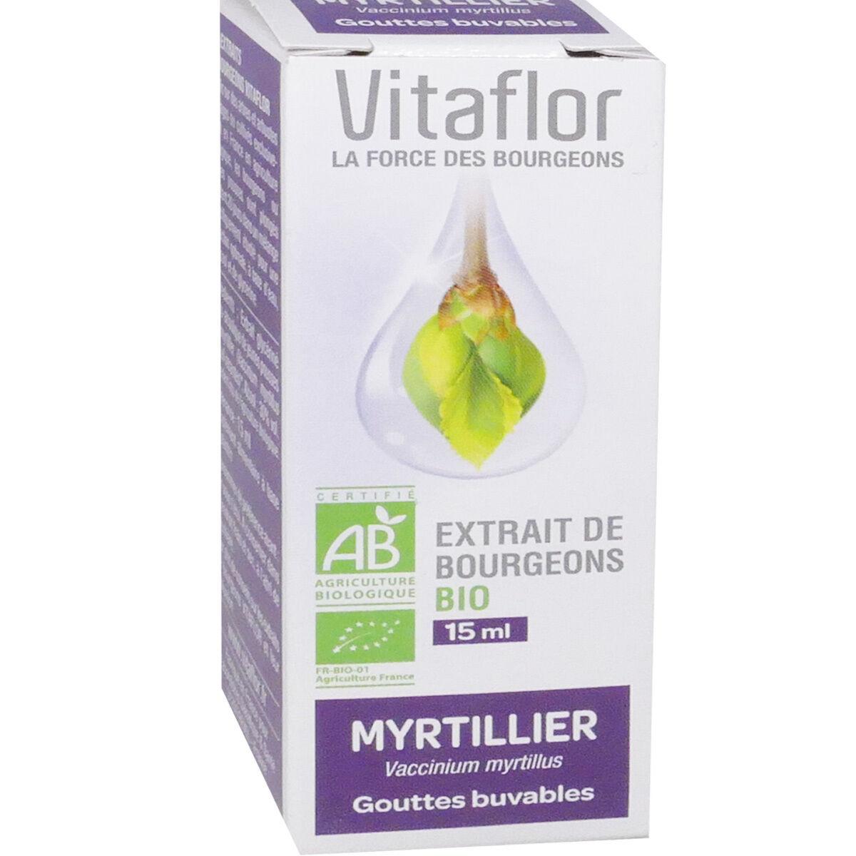 Vitaflor myrtillier extrait de bourgeons bio 15 ml