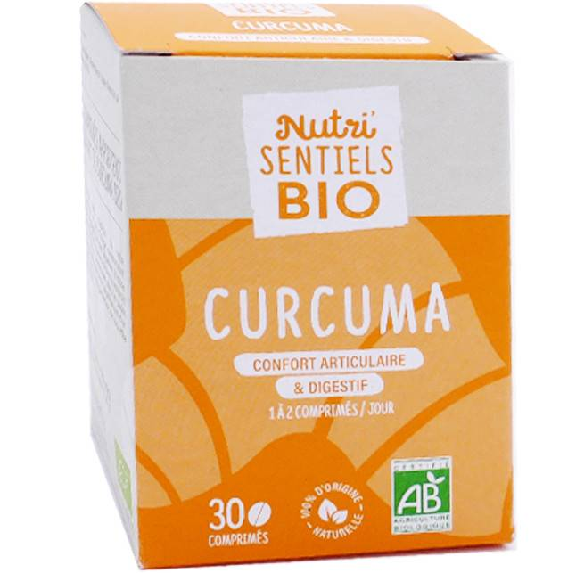 NUTRISANTE Nutri sentiels bio curcuma articulations 30 comprimes