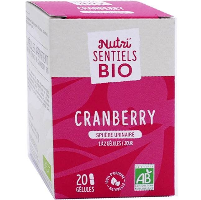 NUTRISANTE Nutri sentiels bio cranberry urinaire 20 gÉlules