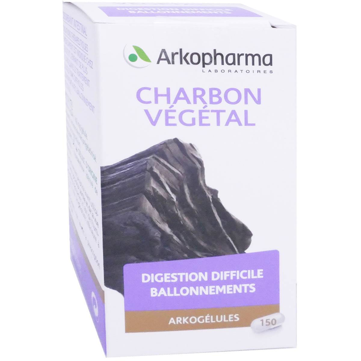 Arkopharma charbon vÉgÉtal 150 arkogelules digestion