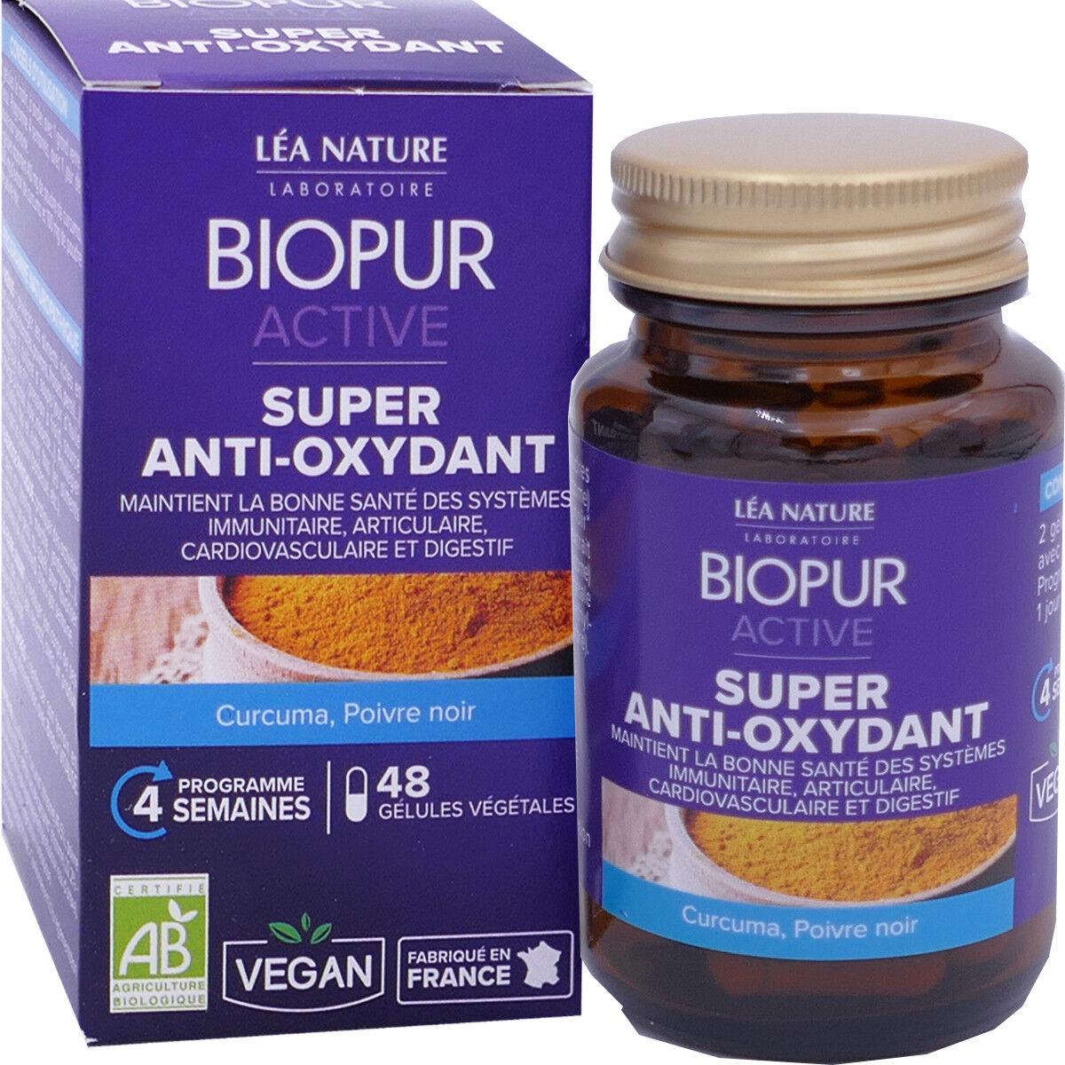 LEA NATURE Biopur active super anti-oxydant 48 gelules bio