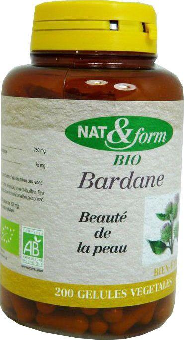 Nat & form bardane 200 gelules bio