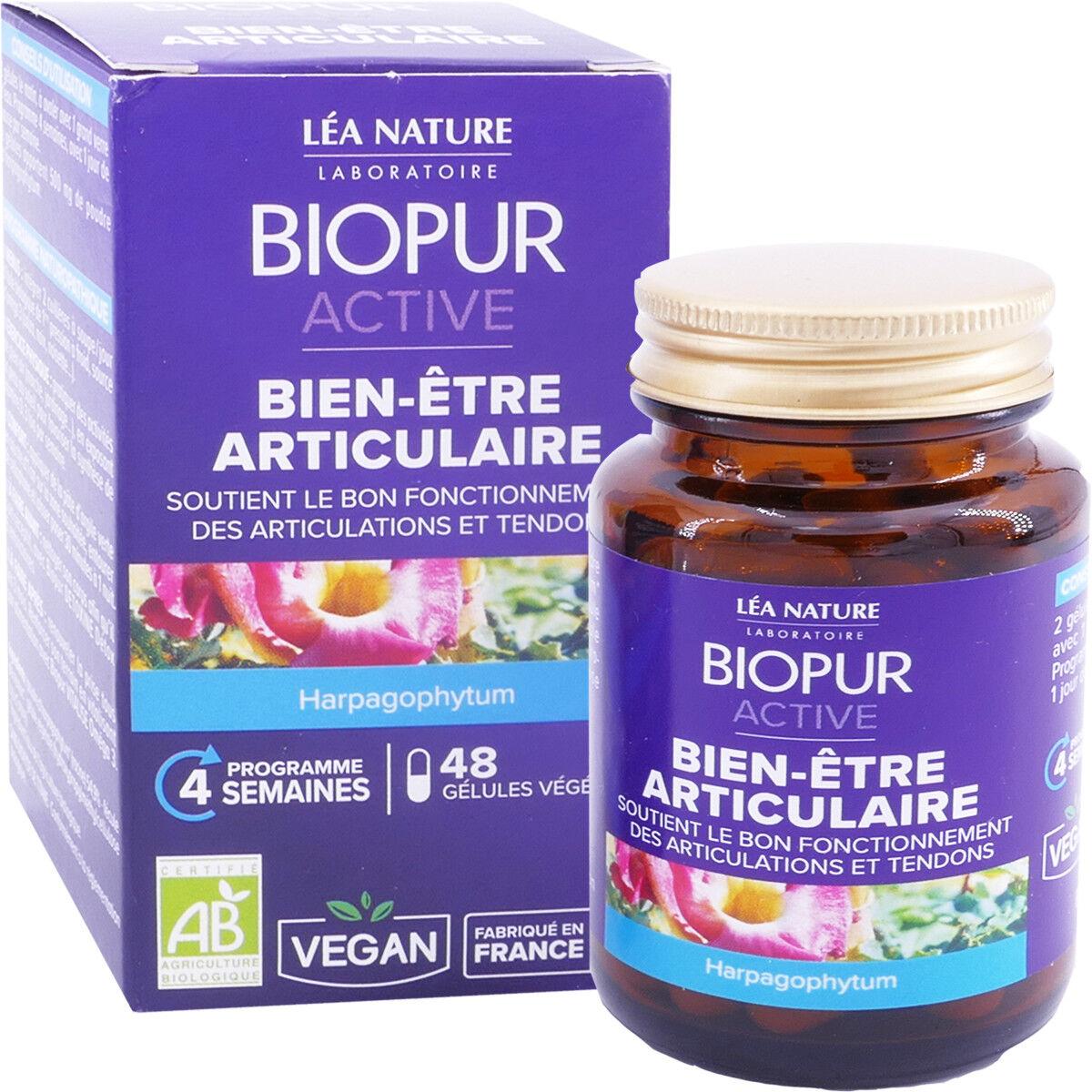 LEA NATURE Biopur bien-etre articulaire 48 gelules bio vegan