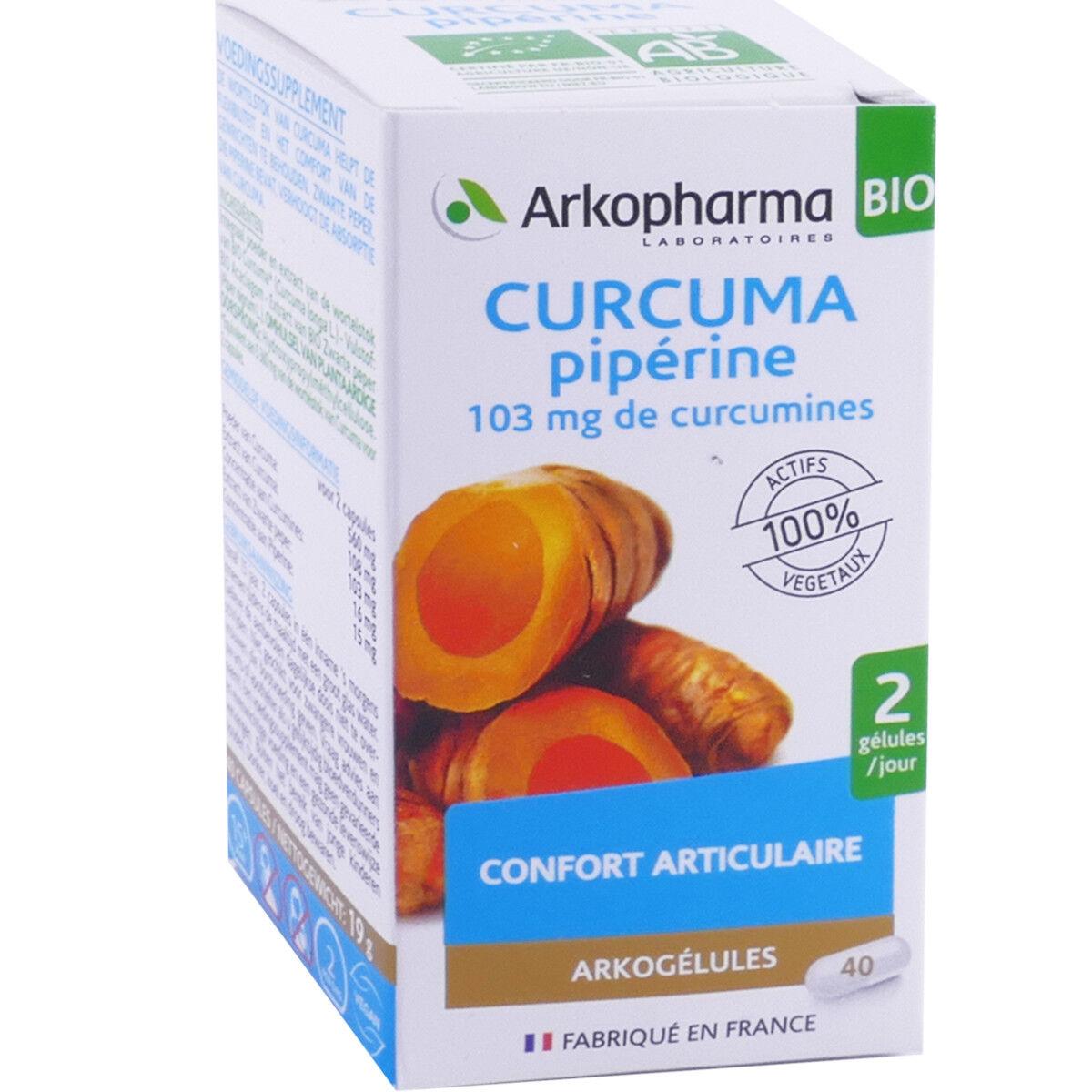 Arkopharma curcuma pipÉrine 40 arkogelules articulation