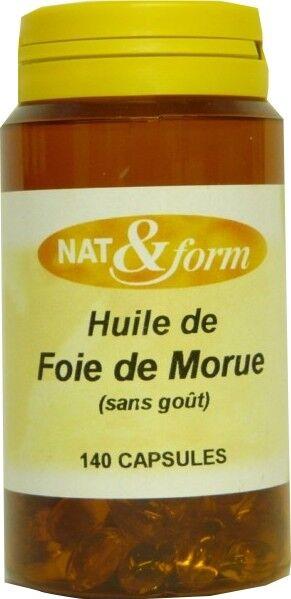 Nat & form huile de foie de morue 140 capsules