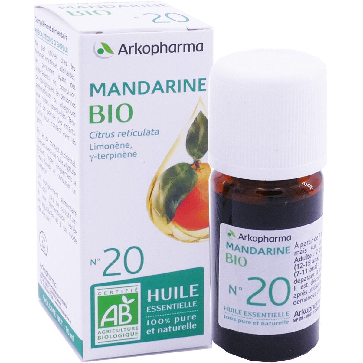 Arkopharma huile essentielle mandarine bio n°20 10 ml