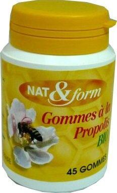 Nat & form gommes a la propolis 45 gommes