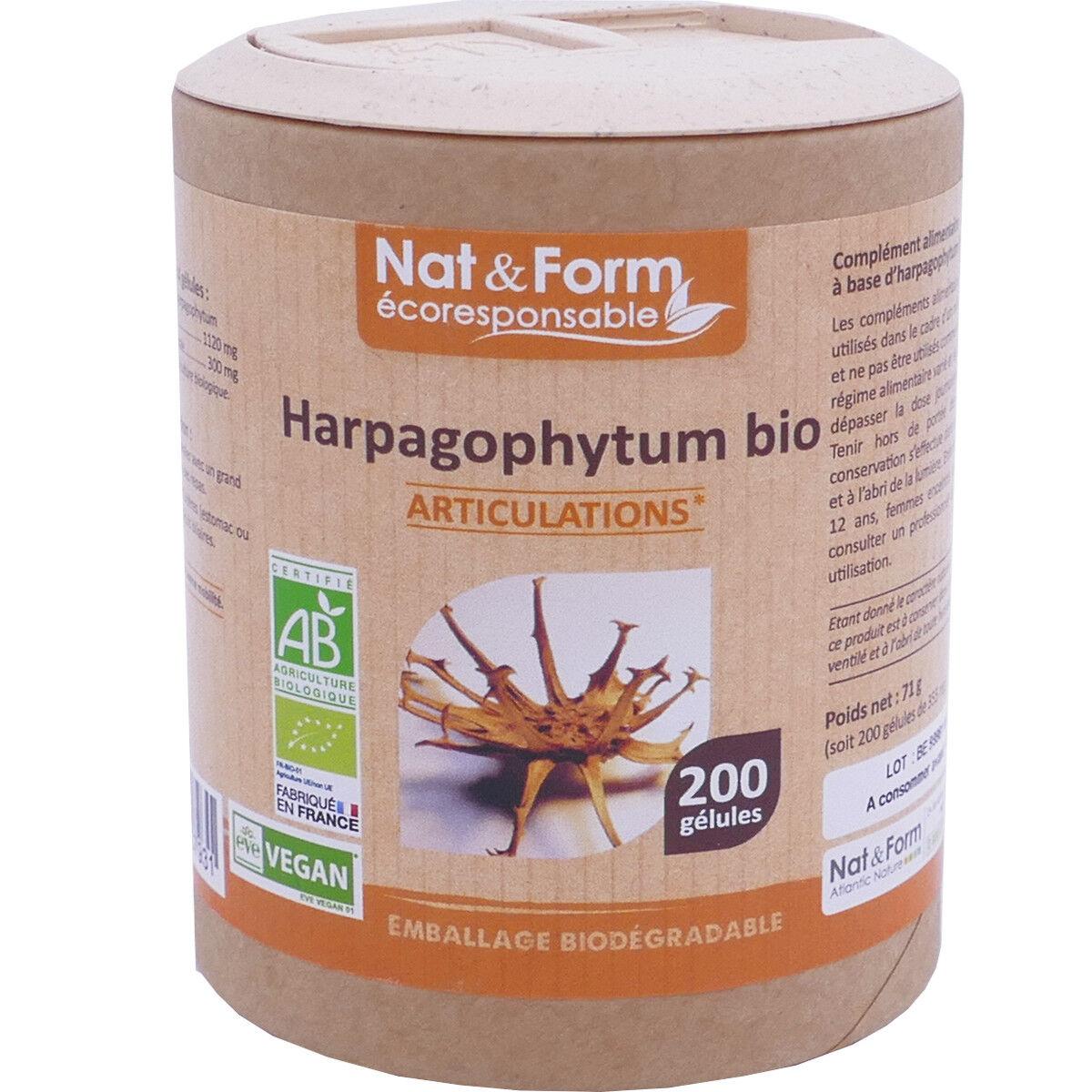 Nat & form harpagophytum bio 200 capsules