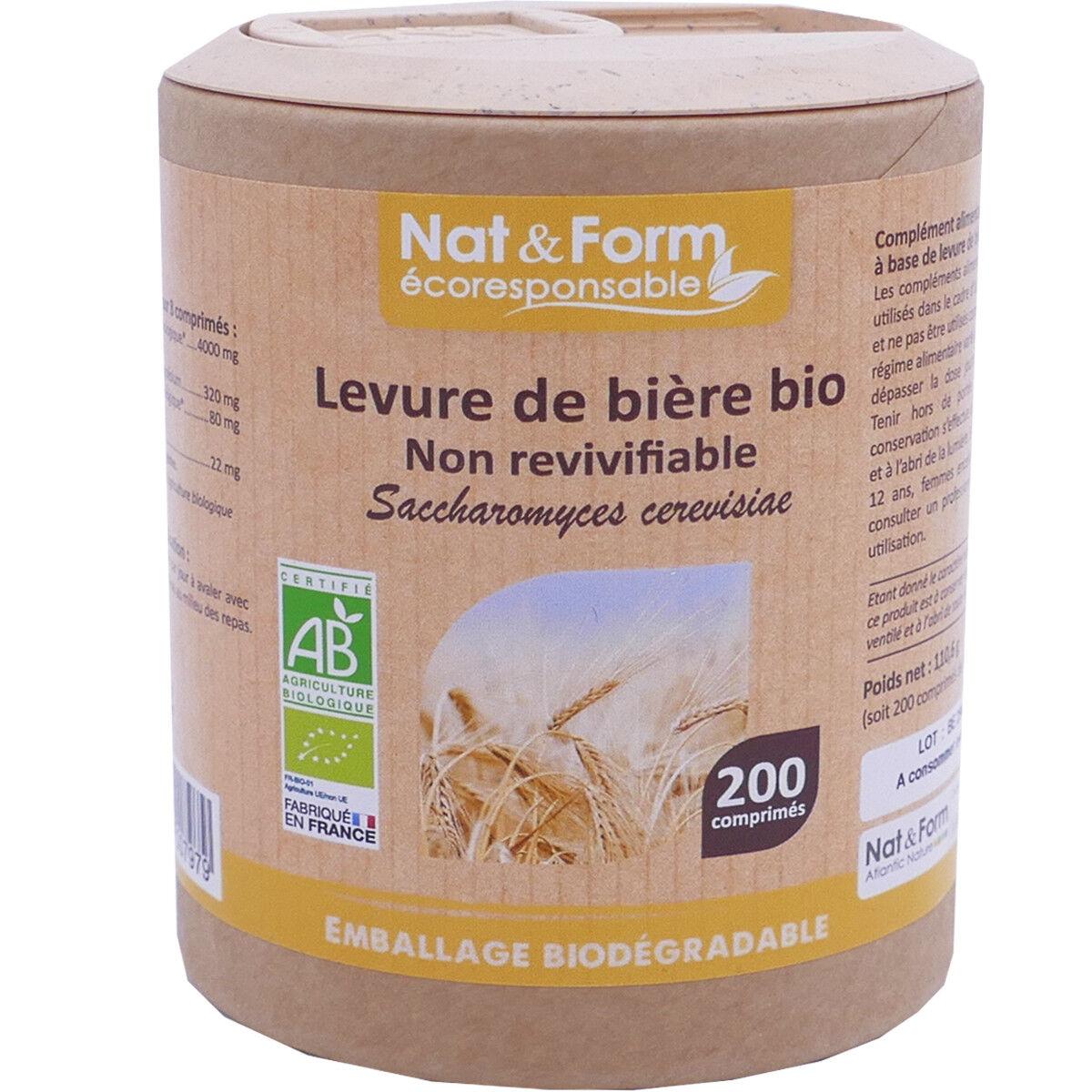 Nat & form levure de biere bio 200 capsules