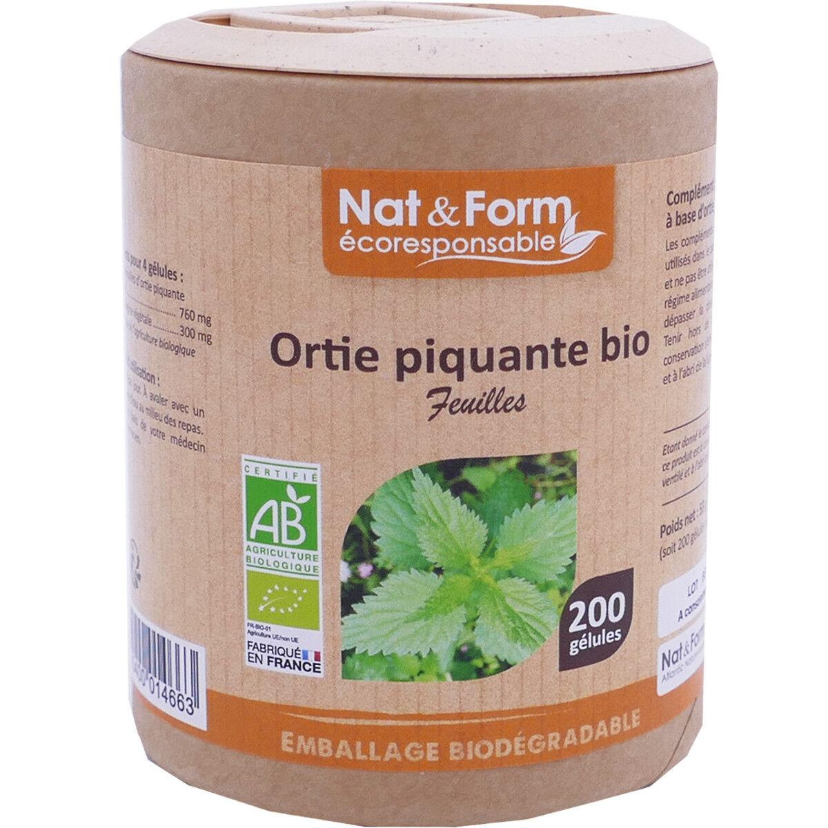 Nat & form ortie piquant bio 200 capsules