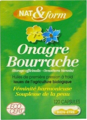 Nat & form onagre bourrache 120 capsules