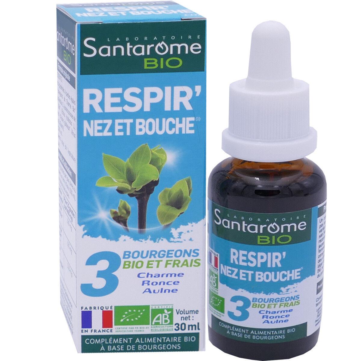 Santarome bio respir' nez bouche 30 ml