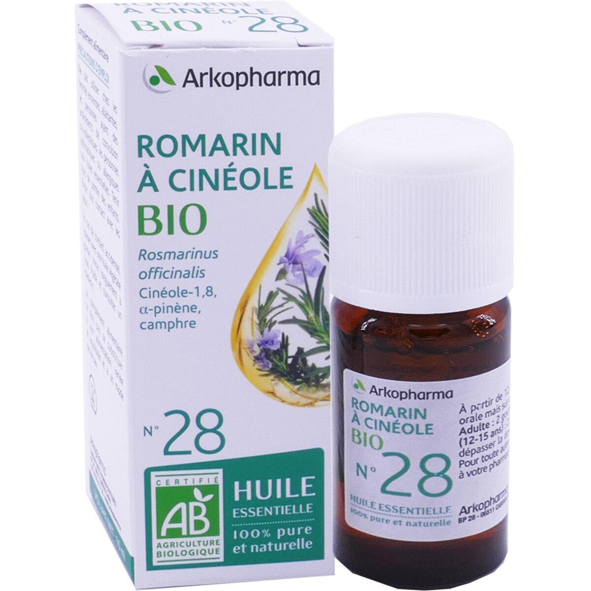 Arkopharma huile essentielle romarin a cineole bio n°28 10 ml