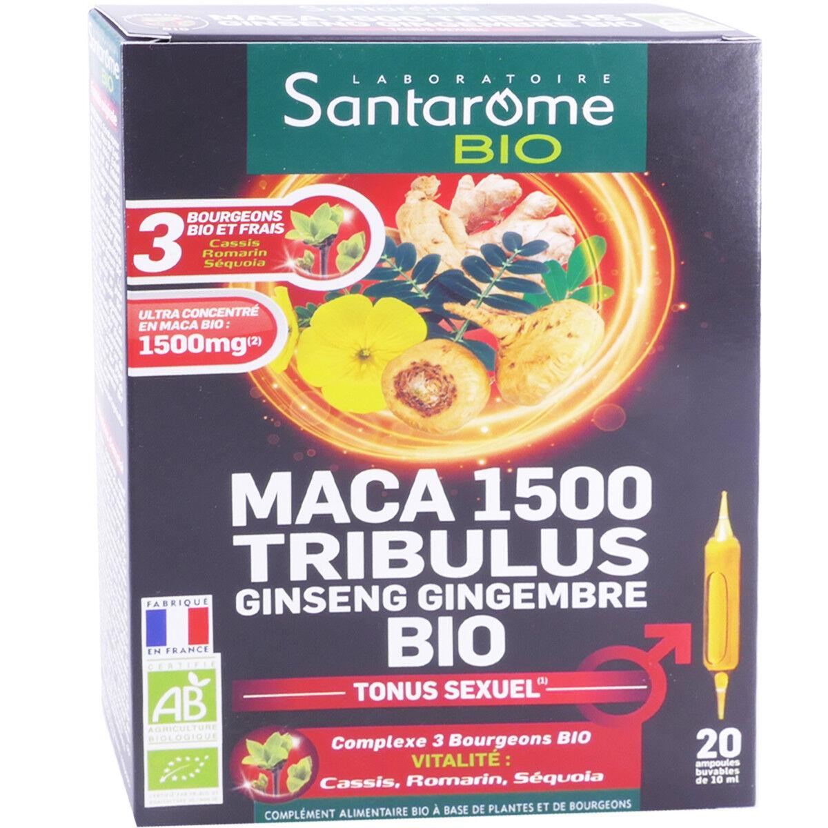Santarome bio maca 1500 tribulus 20 ampoules 10ml